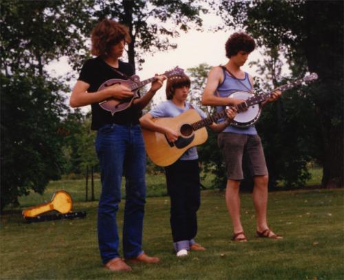 von links: Hendrik, Heiko, Sievert Ahrend, Schweden 1980