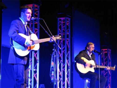 Heiko Ahrend (links) mit Jonny Hill auf seiner Abschiedstour 2006