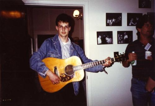 Heiko Ahrend mit Tony Rice's D 28, Wilkesboro, North Carolina1990