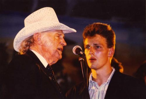 Heiko Ahrend mit Bill Monroe, Mollis (CH) 1988