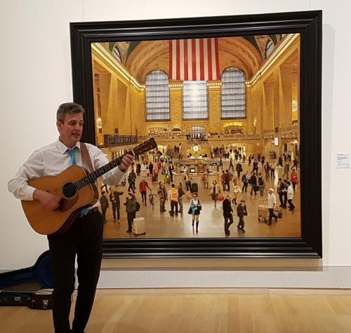 """Musikalische Untermalung der Ausstellung """"American Dream""""Kunsthalle Emden im Mai 2018"""
